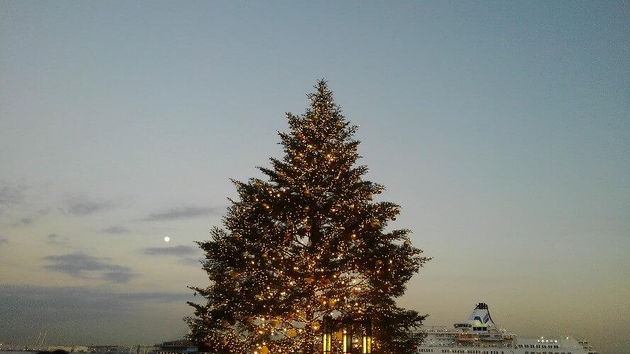 赤レンガクリスマスツリー